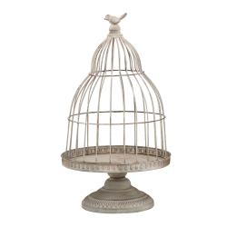 BIRD - Cage à oiseaux Métal Grise D30 x H53 cm