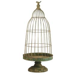 BIRD - Cage à oiseaux Métal Verte D35 x H80 cm