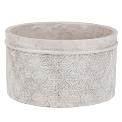 MINEA - Coupe Ciment Blanc - argent D19,5 x H11 cm