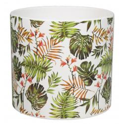 CYLY - Pot cylindre Céramique Motifs jungle D13.2 x H12.1 cm