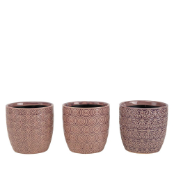 ALIDA - Pots à orchidée Céramique Lilas D13,5 x H12,5 cm par 3