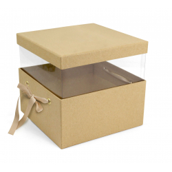 PANDORE - Box carrée Kraft Naturelle L21 x P21 x H15 par 2