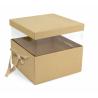 PANDORE - Box carrée Kraft Naturelle L21 x P21 x H15 par 2