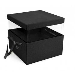 PANDORE - Box carrée Kraft Noire L21 x P21 x H15 par 2