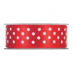 POIS - Ruban 25mm x 20m Rouge