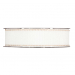 ANNA - Ruban 25mm x 15m Blanc