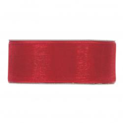 Ruban Organza 40mmx50m Rouge