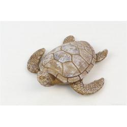 TURTTLE - Tortue Résine Blanchie L11 x P11.5 x H4 cm