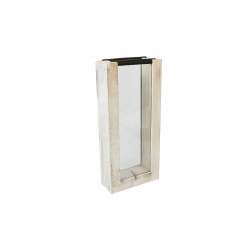 DISPLAY - Vitrine Verre et Support Bois L16.5 x P7 x H36 cm