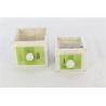 DRAWER - Cache-pots tiroir Bois Vert L13 x P13 x H10,5 cm par 2