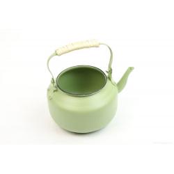 TEA - Théière Zinc Verte D10 x H17 cm
