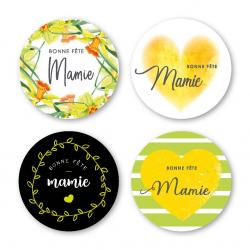 MAMIE - Etiquettes Assort. par 500 Bonne Fête Mamie
