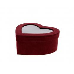 HAT - Boîte à chapeau coeur Kraft Rouge L22.2 x P20 x H9.2 cm