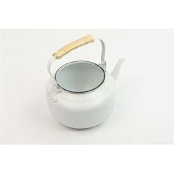 TEA - Théière Zinc Blanche D10 x H17 cm