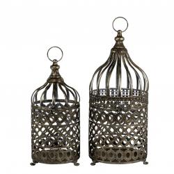 VOGEL - Cage antique Metal Argenté D24 x H48 cm