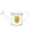 JARD - Arrosoir Fleur et Jardin Zinc Blanc L30 x D12 cm