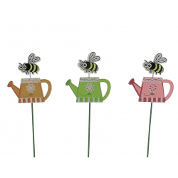 SNAILS - Piques abeille sur arrosoir Bois Assortis D7 x H26 cm par 12