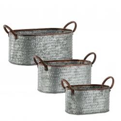 DUFFY - Pot oval Zinc Gris L31 x P15,5 x H16,5 cm