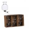 CLIP - Vase bouteille avec accroche Verre H6 x D4 cm par 3