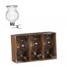 CLIP - Vase avec accroche Verre H6 x D4 cm par 3