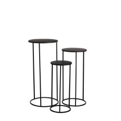 QUINTY - Table de service Fer Noire H70 x D32 cm