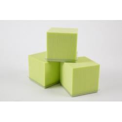 Cube Mousse 10cm avec base Vert Anis par 3