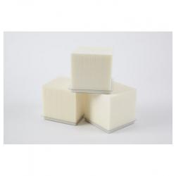 Cube Mousse 10cm avec base Ivoire par 3