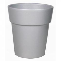 Cache-pot d 19  h 17 cm Argent par 4