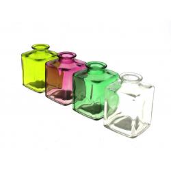 BOTELLA - Pots Verre coloré Assortis D4.1 x P7 x H9.5 cm par 4