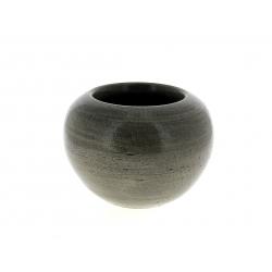 LUCE - Cache-pot orchidée Céramique Gris patiné D19 x H14 cm