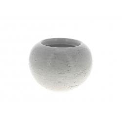 LUCE - Cache-pot orchidée Céramique Blanc patiné D19 x H14 cm