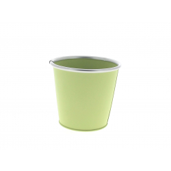 Cache-pot avec rebords Zinc Vert D11.5/8.5 x H10.5 cm