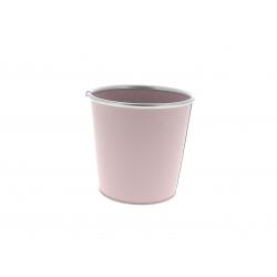 Cache-pot avec rebords Zinc Rose D11.5/8.5 x H10.5 cm