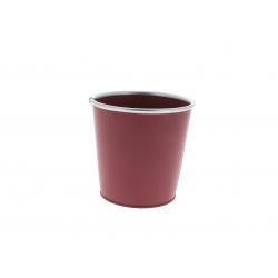 Cache-pot avec rebords Zinc Framboise D13/9.5 x H12.5 cm