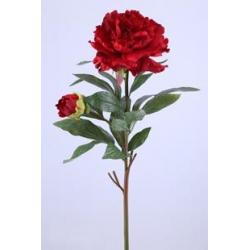 BRANCH - Pivoine 1 Fleur H90 cm Rouge