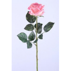 REAL TOUCH - Rose Rose 10 Feuilles H57 cm