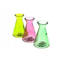 BOTELLA - Vases Verre coloré Assortis D4.4/7 x H10.5 cm par 8