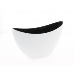 WHITE - Barque Plastique Blanc L24 x P10 x H14 cm
