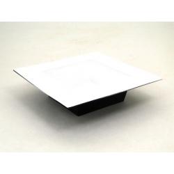 WHITE - Plateau carré Plastique Blanc L20 x P20 x H5 cm