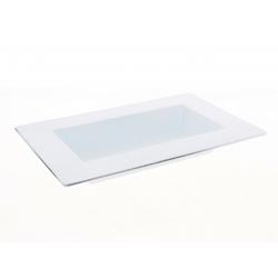 WHITE - Jardinière avec rebords Plastique Blanc L28 x P18.5 x H3.8 cm