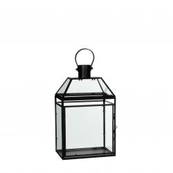 LOIS - Lanterne Métal Noire L21 x P14 x H34 cm