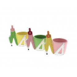 COMPAS - Cache-pots compas Céramique Assortis L11 x P7.4 x H10.2 cm p