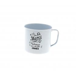MUG - Tasse Maîtresse Céramique Blanche D10 x H9 cm