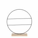 CIRCLE - Decoration cercle Noir Fer L40 x P8 x H42 cm