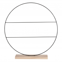CIRCLE - Decoration cercle Noir Fer L55 x P9 x H57 cm