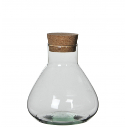 EMILY - Bocal Transparent Verre H18 x D17 cm
