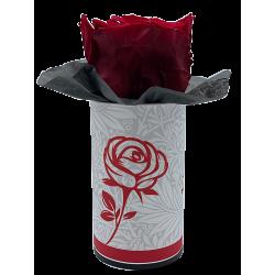 LA ROSE - Tête de rose stabilisée dans sa boîte Rouge D5 cm