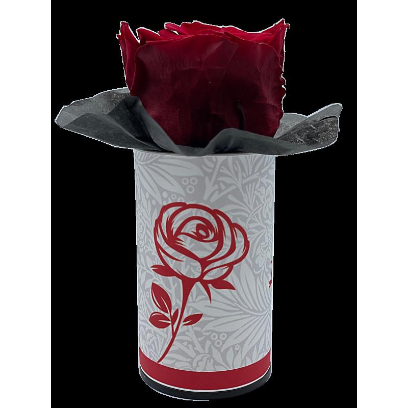 LA ROSE - Boîte Tête de rose stabilisée Rouge D5 cm