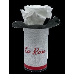 LA ROSE - Boîte Tête de rose stabilisée Blanche D5 cm
