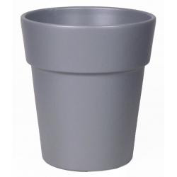 Cache-pot Gris Mat avec Rebord d16 h17.8 cm  par 4